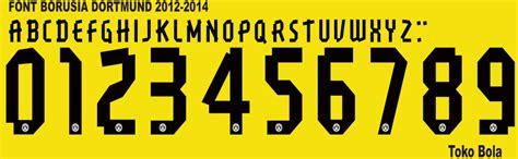 Custom Font Nameset Sevilla 2014 15 football font collection font borussia dortmund