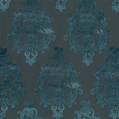 blue damask upholstery fabric peacock blue velvet damask upholstery fabric modern