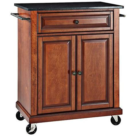 cherry kitchen island cart york black granite top cherry kitchen island cart 7h019