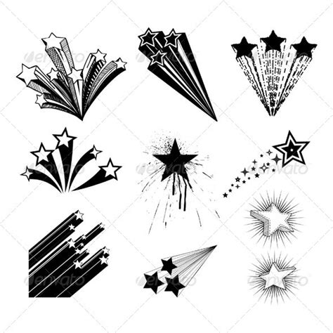 star trail tattoo designs design vectors decorative decorative symbols
