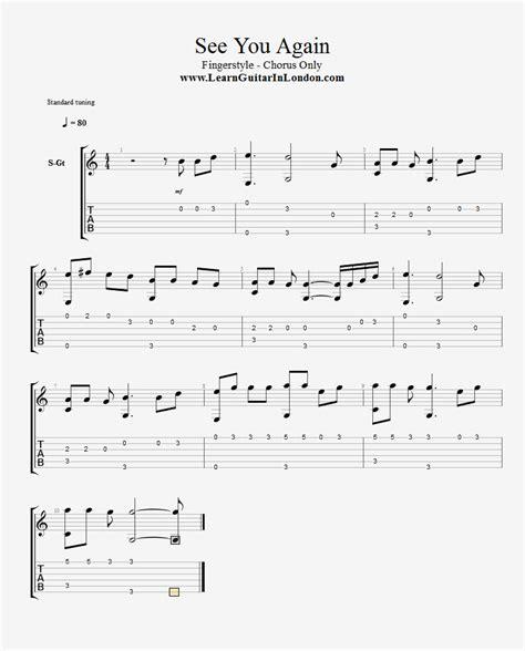tutorial guitar see you again see you again tab fingerstyle learnguitarinlondon