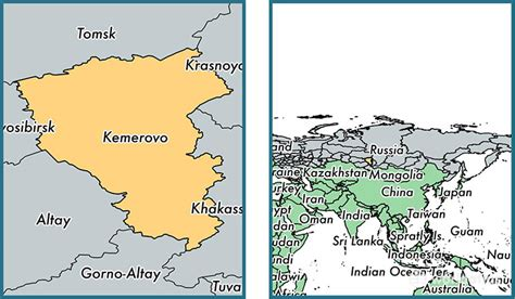 russia kemerovo map kemerovo oblast administrative region russia map of