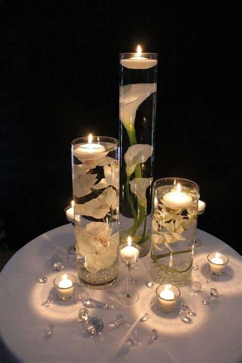 Set Of 3 Cylinder Vases Cheap Oltre 25 Fantastiche Idee Su Centrotavola Candele
