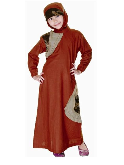 Gamis Batik Mahkota model baju pesta anak yang lucu