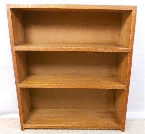 teak wood standing open bookcase cabinet