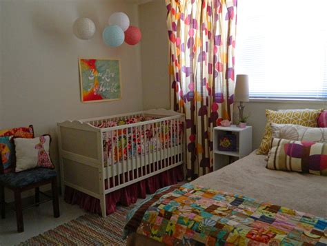nursery in bedroom colorful whimsical nursery and guest bedroom project nursery