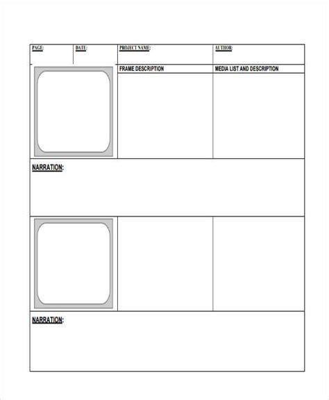 digital storyboard templates 8 digital storyboard templates exles in word pdf