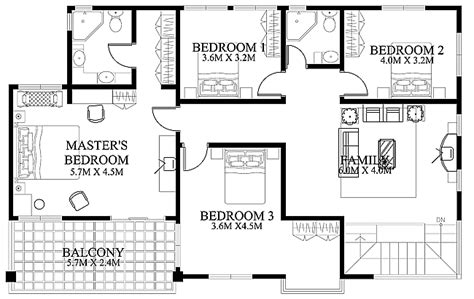 Floorplan Of A House Modern House Design 2012002 Eplans