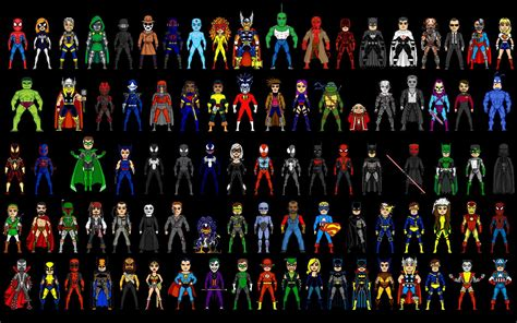 film marvel super heroes pixelated superheroes wallpaper super heroes pinterest