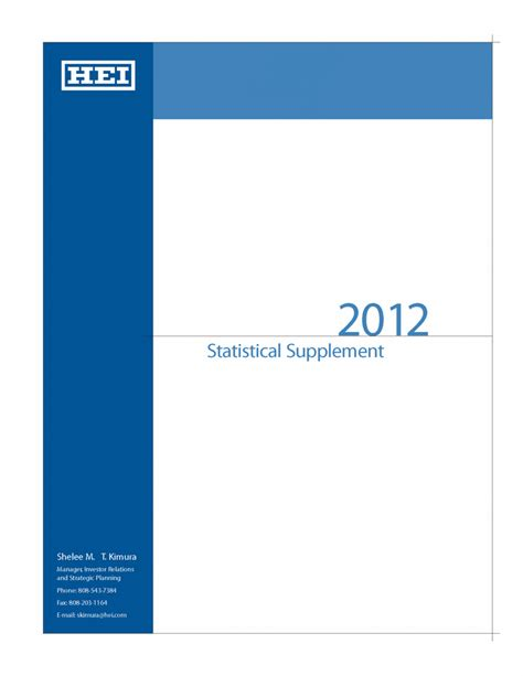 g income supplement hei 2012 statistical supplement shelee m t kimura