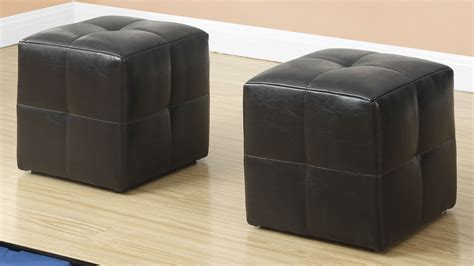ottoman set of 2 dark brown leather juvenile ottoman set of 2 8160 monarch