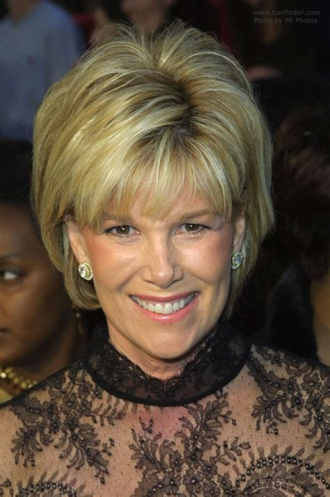 joan lunden s hairstyles joan lunden s easy short half way the neckline hair with