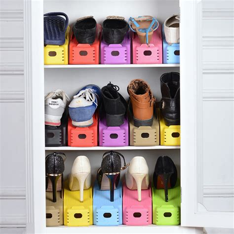 shoe storage organiser 1 pc display rack shoes organizer space saving plastic