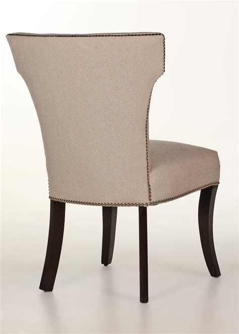 nailhead dining room chairs berkeley dining chair with nailhead trim contemporary design