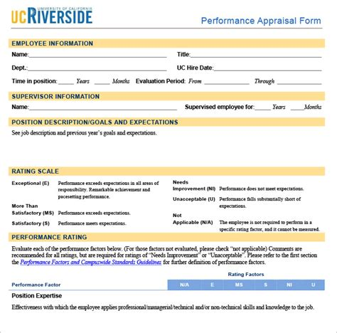 performance appraisal form template 13 hr appraisal forms hr templates free premium