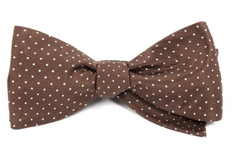 mini dots bow ties chocolate brown ties bow ties and