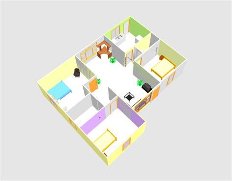 3d house plans free download three bed room 3d house plan with dwg cad file free download