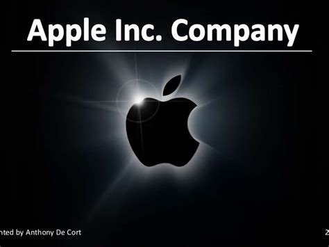Financial Analyse Of The Apple Inc Company Apple Inc Powerpoint