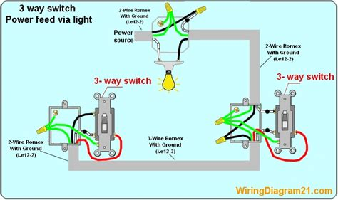 3 way light switch wiring wiring diagram and schematics
