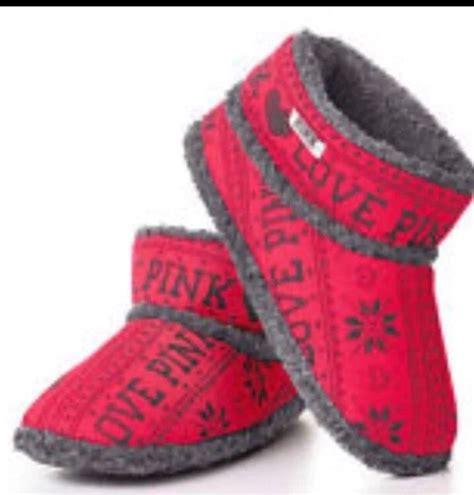 vs pink slippers s secret pink booties slippers