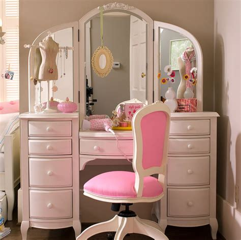 girls bedroom dressing table awn cute cute room rosa pink rose dressing image
