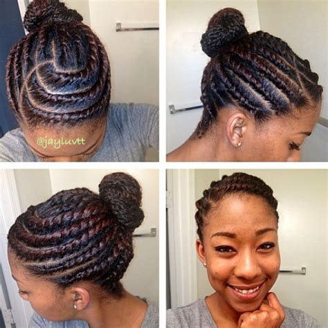 pics of flat hair buns flat twist bun pretty for your skin natures hair