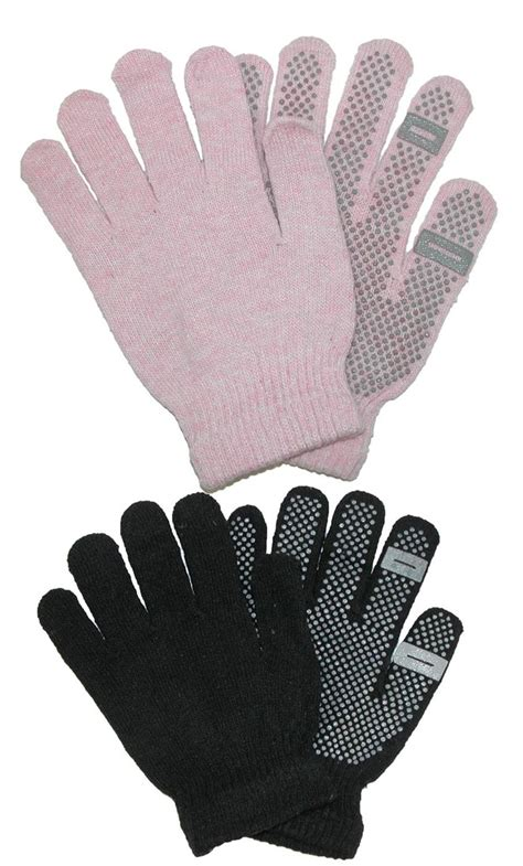 womens knit gloves womens grip knit texting winter gloves by ctm 174 gloves