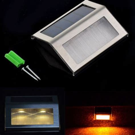 Led Stair Lights Outdoor New Led Solar Power Path Stair Outdoor Light Garden Yard Wall Landscape L