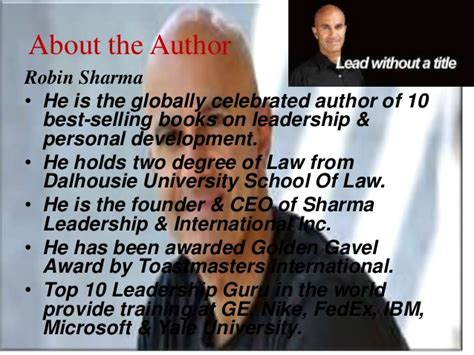 the monk sold his the monk who sold his book review ppt