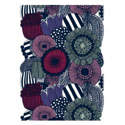 marimekko siirtolapuutarha violet cotton fabric repeat