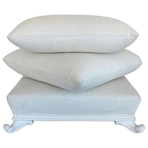 pillow ottoman sister parish stacked pillow ottoman at 1stdibs