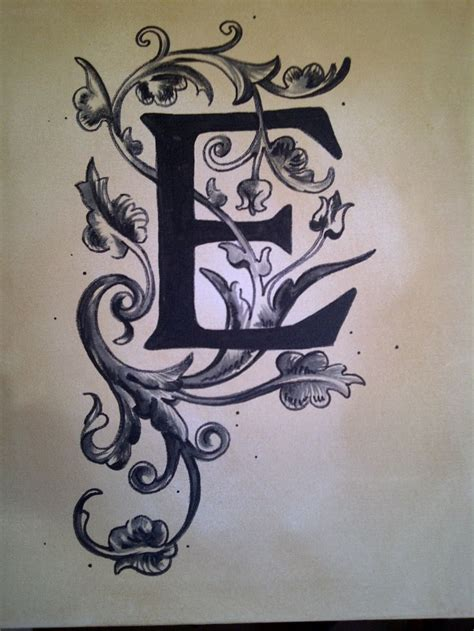 e tattoo designs letter e designs images