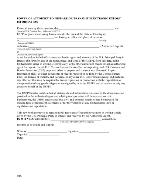 customs power of attorney template cbp sub power of attorney form the best attorney 2017
