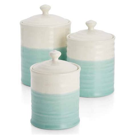 Turquoise Kitchen Canisters by Aqua Dip Canisters Everything Turquoise