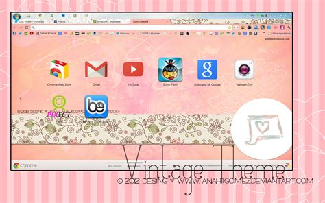 theme chrome vintage theme for google chrome vintage theme pink pastelia for