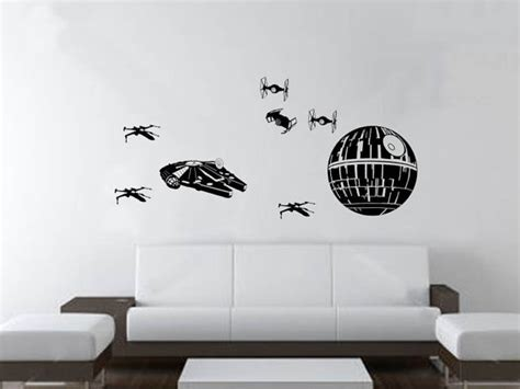 star wars bedroom decals star wars battle wall art wall decals fiction and scene