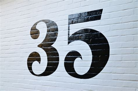 Home Decorating Style Names by Number 35 Painted House Number Steve Blackwell Signs