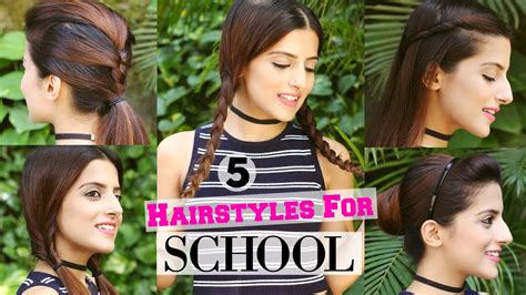 easy hairstyles for medium hair for school dailymotion 5 easy 1 min hairstyles for school college
