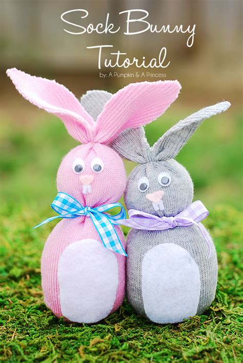 sock bunny easy sock bunny easter crafts for a pumpkin and a princess