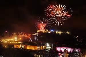 happy new year firework display lights up