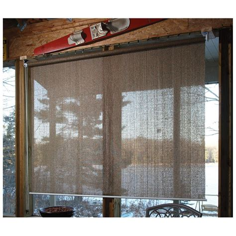 sunscreen awnings castlecreek sunscreen roll up window shade 232384 awnings shades at sportsman s guide