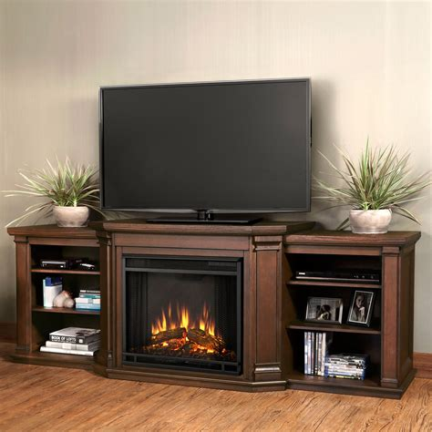 fireplace display pair of triple shelf for display storage and brown