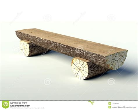 tree trunk bench seat wooden bench made of tree trunks stock images image