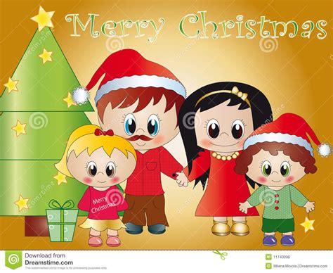 imagenes feliz navidad para la familia familia feliz una navidad stock de ilustraci 243 n imagen de