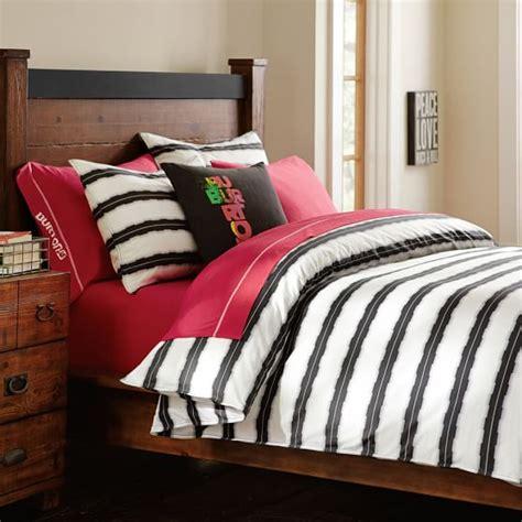 bedroom sets brton burton vibrating stripe duvet cover sham pbteen