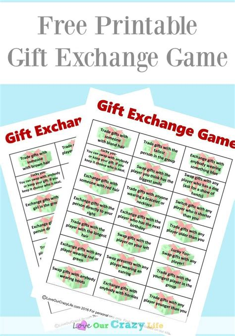 printable christmas exchange games free gift exchange game printable gift exchange games