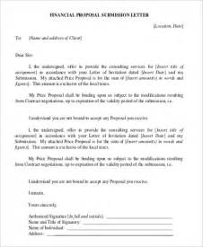 Financial Bid Letter Letter Pdf