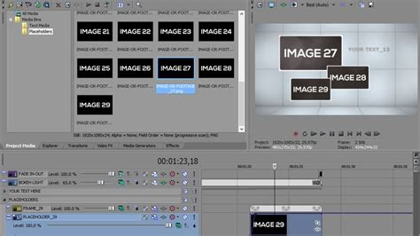 sony vegas slideshow template modern slideshow vegas pro template