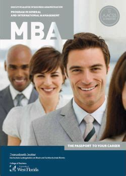 Uwf Mba Accounting by General And International Management Mba Hochschule