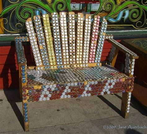 bottle cap bench that s a lot of bottle caps beer bottle cap bench re